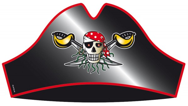 8 sombreros pirata Sebastian Sables 18cm