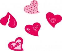 15 Kiss me Holz Streudeko Herzen