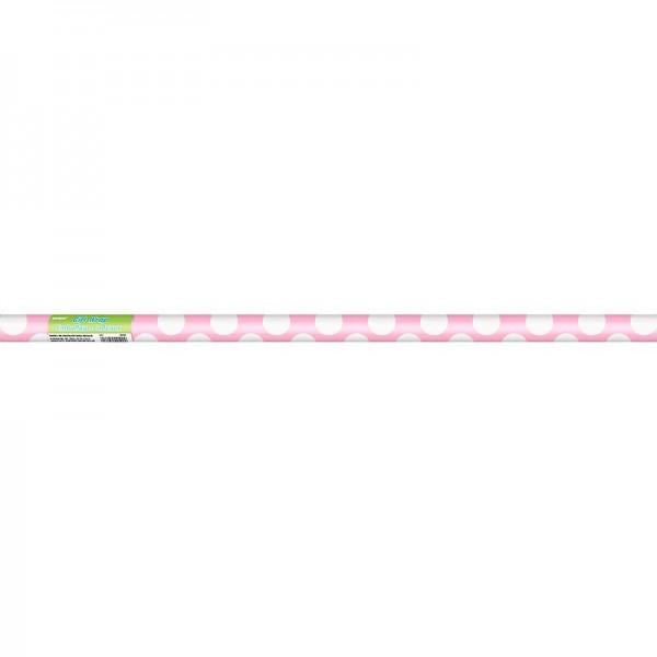 Papier cadeau Tiana rose clair à pois 76 x 152cm