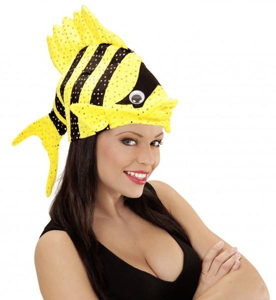Gelb-Schwarze Tropic Fish Mütze