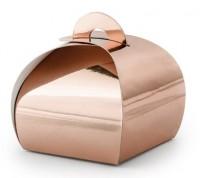 10 Roségold metallic Geschenkboxen