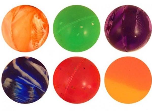 6 kulek gumowych marmurkowych 2,7cm
