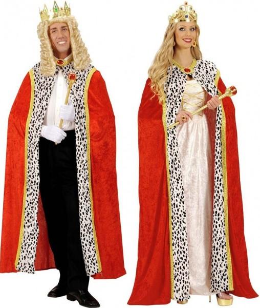 Mantello reale rosso per uomini e donne
