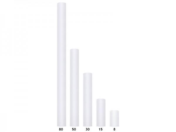 Weißer Tüll Tischläufer 30 x 900cm 3