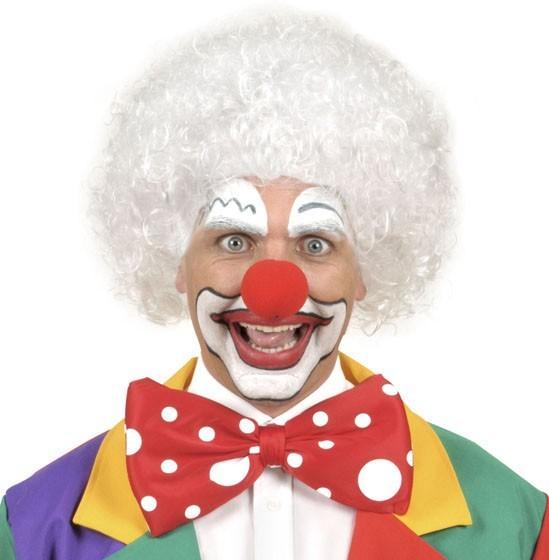 Weiße Zirkus Clown Afroperücke