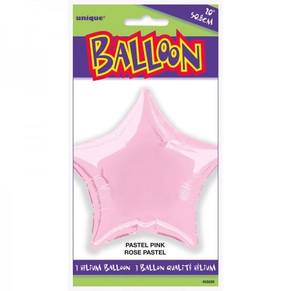 Ballon aluminium Rising Star rose
