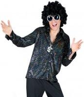 Funkelndes Glamour Disco Hemd