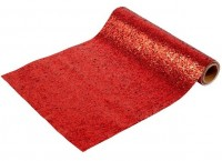 Glänzender Tischläufer rot 1,8m