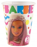 8 Barbie Fashionista Pappbecher 266ml