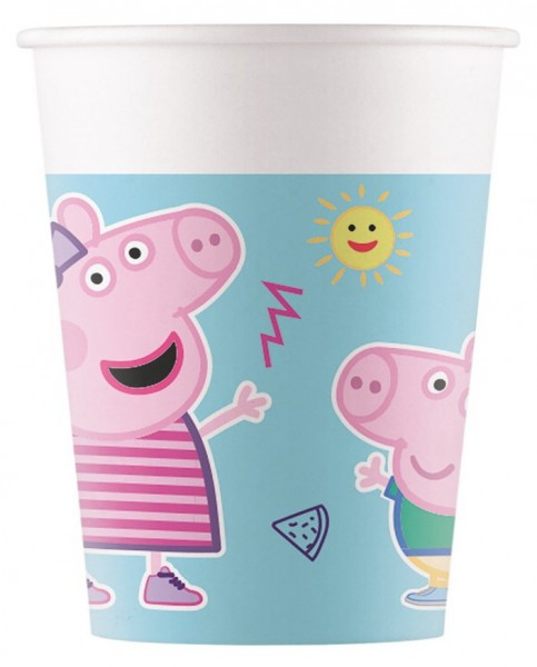 8 Peppa Wutz Eco Becher 200ml