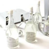 24 Seifenblasen Champagnerflaschen 9cm