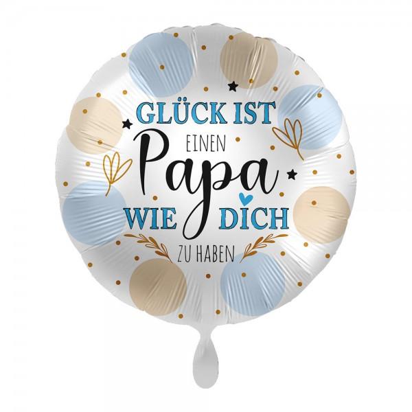 Glück ist Papa Folienballon 43cm
