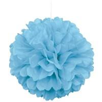 Fluffy Pompon Hellblau 23cm 3er Set