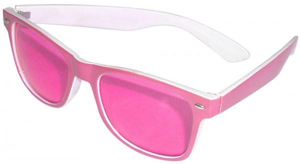 Große Retro Sonnenbrille Pink 1