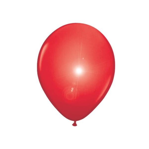 5 globos de látex LED rojo 28cm