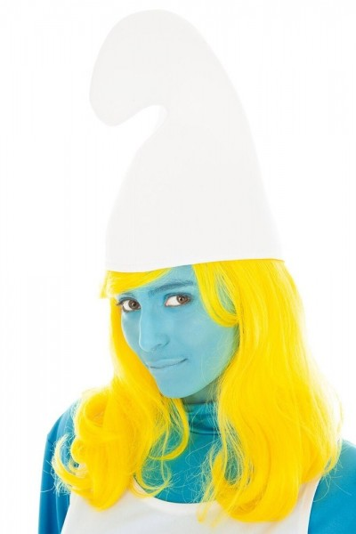 Weiße Schlumpfine Mütze für Damen
