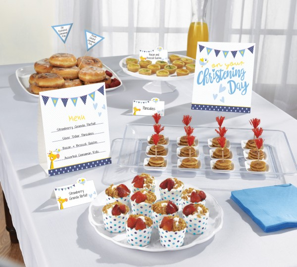 Christening Day buffet set blue 12 pieces