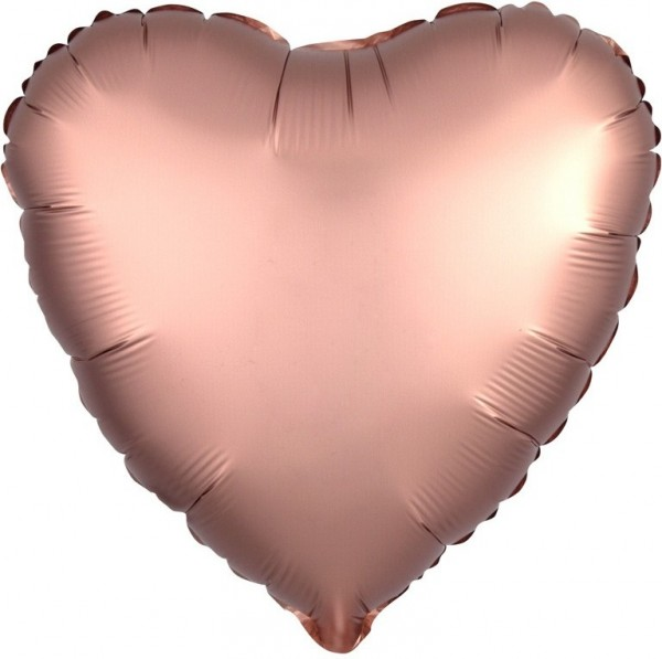 Romantic deluxe heart balloon rose gold