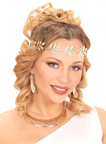 Goldene Lorbeerblätter Ohrringe