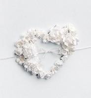 Hochzeit Kartenbox Elena weiß mit Blumenherz 24x24x24 cm