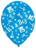 6 Ballons Willkommen Kleiner Prinz 27,5 cm