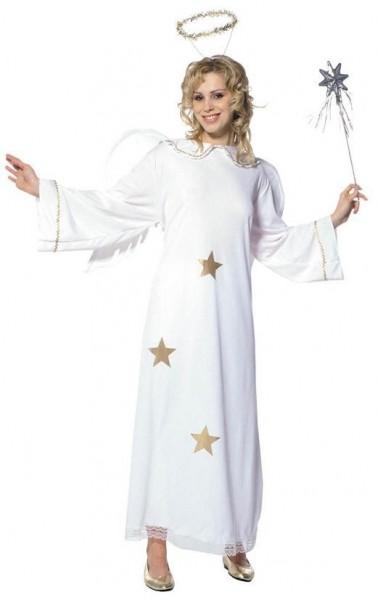 Mooi sterren engel dames kostuum