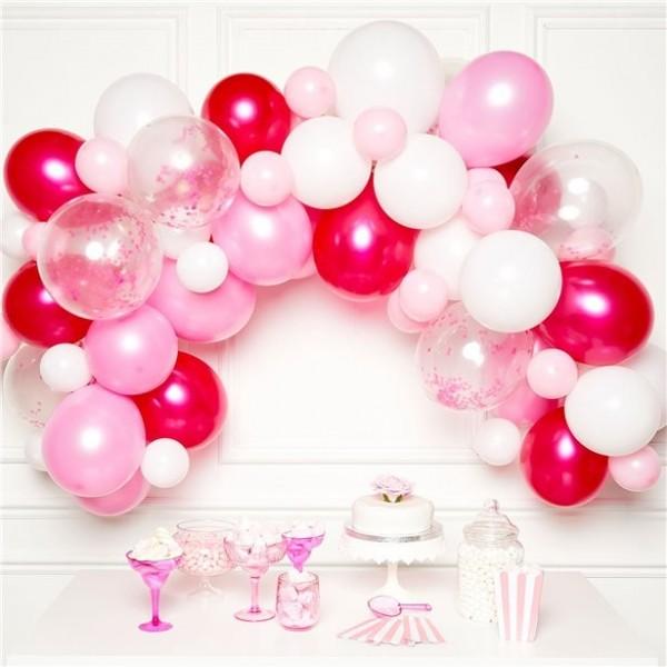 70-częściowy zestaw girland z balonów DIY różowy
