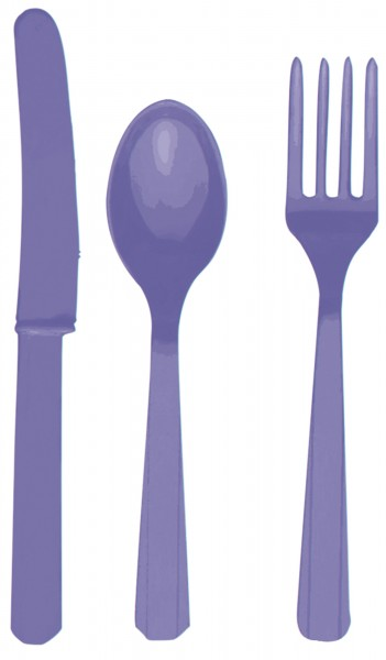 24 pcs. Cutlery set Mila purple