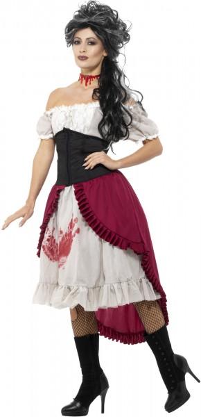 Blutiges Saloonkelid Carmenbluse Damenkostüm