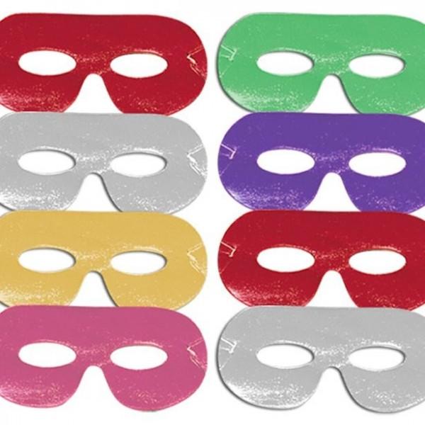 8 Bunte Augenmasken Carnival