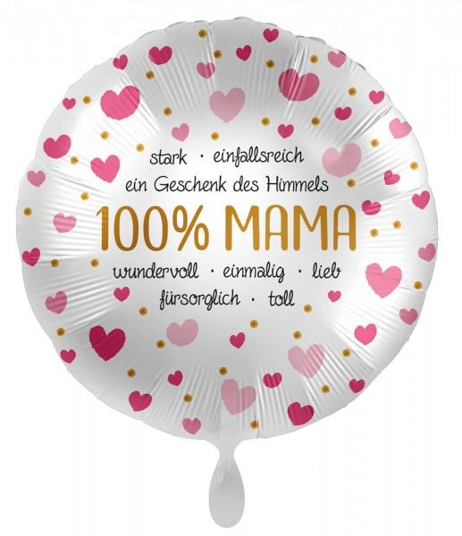 100% Mama Folienballon 43cm