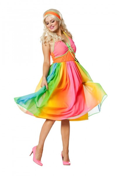 Regenbogen Hippie Kostüm für Damen