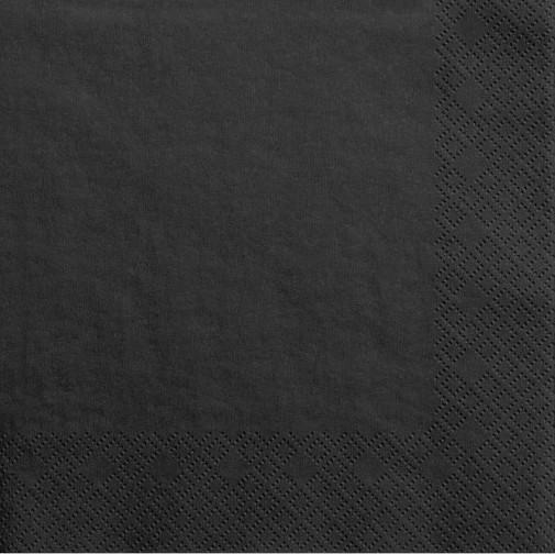 20 czarnych serwetek Scarlett 33 cm
