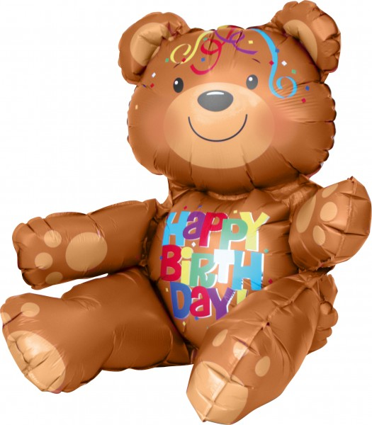 Foil balloon birthday bear figure
