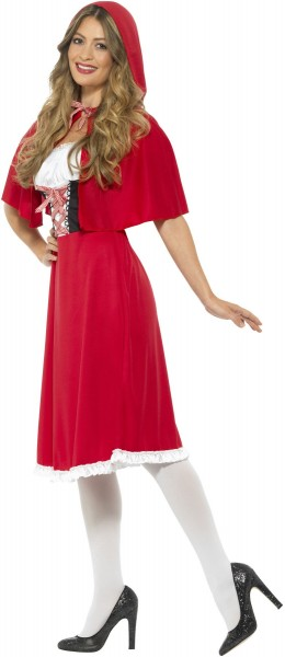 Déguisement Luise du petit chaperon rouge pour femme