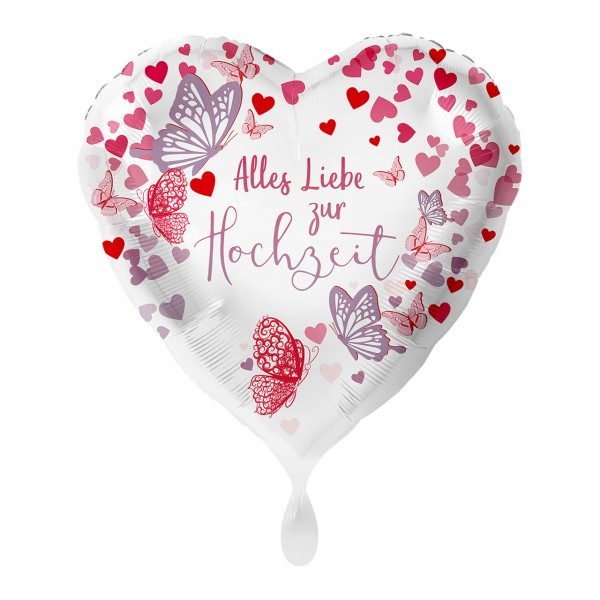 Ballon en aluminium Happy Wedding 43cm