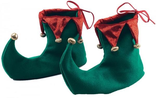 Weihnachtswichtel Schuhe Grün-Rot