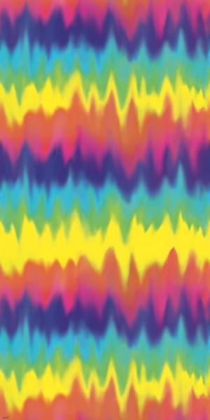60er Jahre Hippie Wandkulisse Rainbow Groove 1