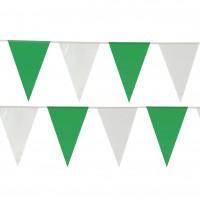 Kunststoff Wimpelkette Matilda Grün-Weiß 10m