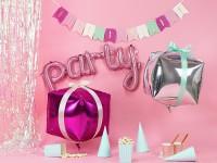 Rosa Party Folienballon 80 x 40cm