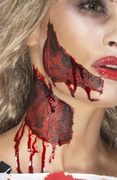 Blutverschmiertes Haut Klebetattoo