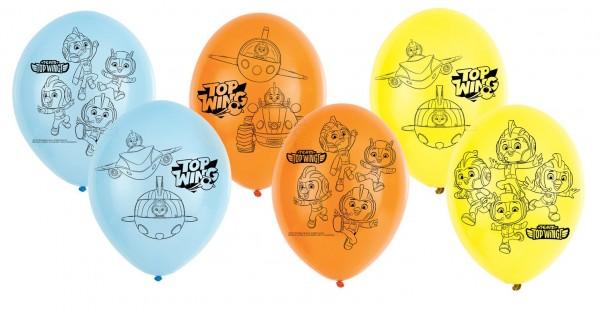 6 Top Wing Helden Luftballons 28cm