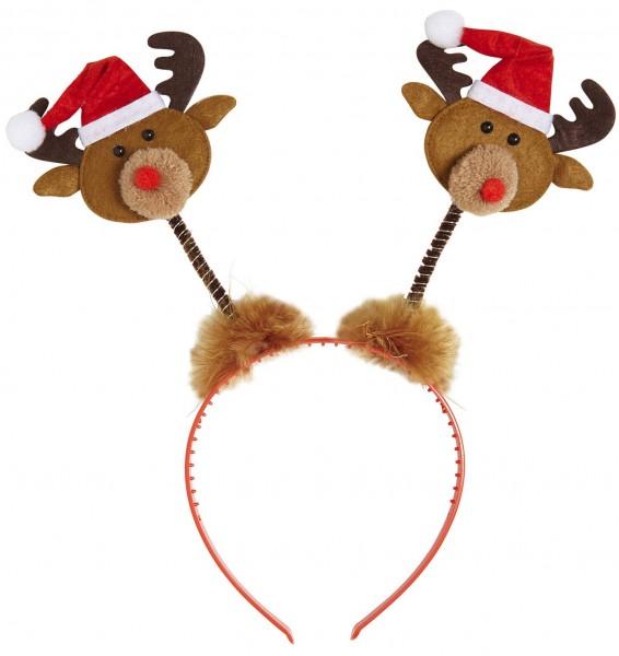 Haarreif Mit Weihnachtsmann-Rentieren