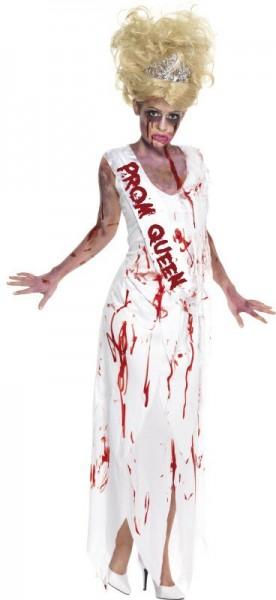Halloween Kostüm Untote Ballkönigin Mit Schärpe Blutig Horror 1