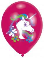 6 Ballons Magisches Regenbogen Einhorn