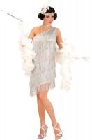 Robe argentée Charleston Golden Twenties