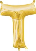 Mini Folienballon Buchstabe T gold 35cm