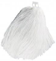 Weiße Wuschel Pompons