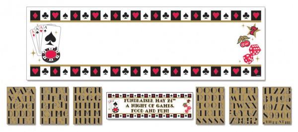 Poker Tournament Banner Las Vegas Personalisierbar 165cm