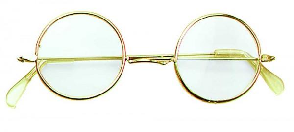 Britische Brille Lennon Gold
